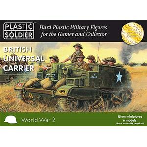 PLASTIC SOLDIER CO: 15mm British and Commonwealth Universal Carriers (5 modelli per box)