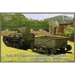 IBG MODELS: Type 94 Japanese tankette with trailers (2 trailers in the box!) - scala 1/72