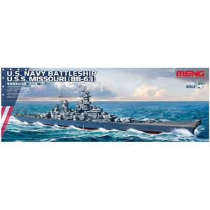 MENG MODEL: 1/700; U.S. Navy Battleship U.S.S. Missouri (BB-63)