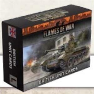 FLAMES of WAR: Armies Of Late War - British Unit Cards
