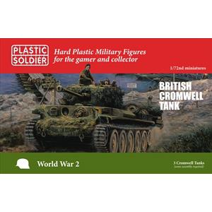 PLASTIC SOLDIER CO: 1/72; Cromwell Tank (3x Scatola)